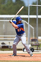New York Mets Vicente Lupo (27) during a minor league spring training game against the St. Louis Cardinals on April 1, 2015 at the Roger Dean Complex in Jupiter, Florida.  (Mike Janes/Four Seam Images)