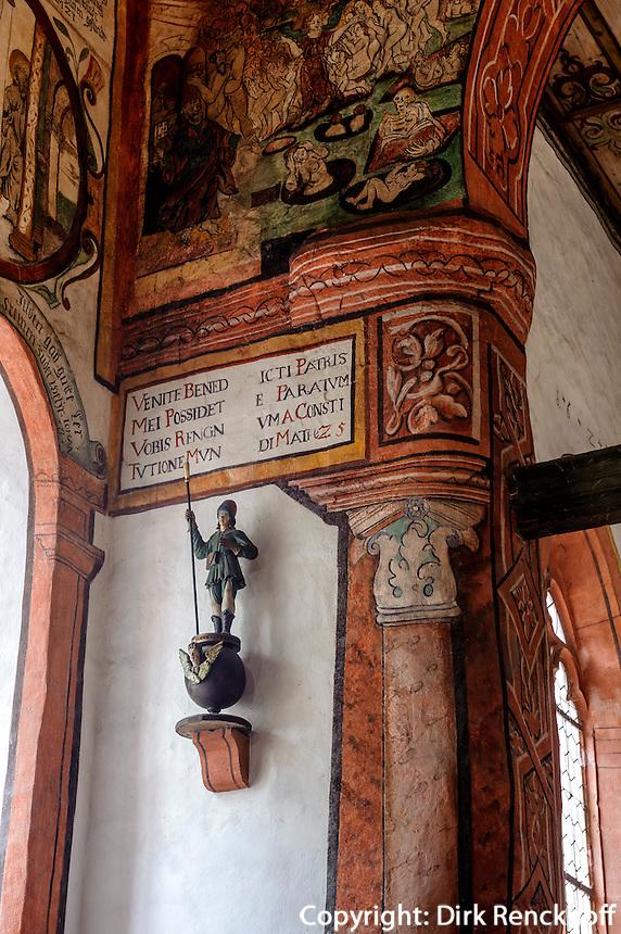 Martinskapelle in Bürgstadt, erbaut 950, ausgemalt1590 von Andreas Herneisen,  Unterfranken, Bayern, Deutschland