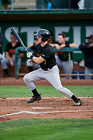 David Cronin (7) of the Great Falls Voyagers bats against the Ogden Raptors at Lindquist Field on September 14, 2017 in Ogden, Utah. The Raptors defeated the Voyagers 7-4 in Game One of the Pioneer League Championship. (Stephen Smith/Four Seam Images)