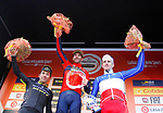 Vincenzo Nibali (ITA) Bahrain-Merida wins, with Caleb Ewan (AUS) Mitchelton-Scott finishing in 2nd place and Arnaud Demare (FRA) Groupama FDJ 3rd, the 109th edition of Milan-Sanremo 2018 running 294km from Milan to Sanremo, Italy. 17th March 2018.<br /> Picture: LaPresse/Spada | Cyclefile<br /> <br /> <br /> All photos usage must carry mandatory copyright credit (© Cyclefile | LaPresse/Spada)