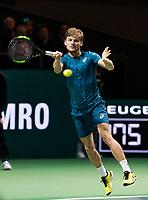 Rotterdam, The Netherlands, 17 Februari, 2018, ABNAMRO World Tennis Tournament, Ahoy, Tennis, David Goffin (BEL), Grigor Dimitrov (BUL)<br /> <br /> Photo: www.tennisimages.com