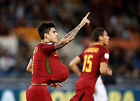 Calcio, Serie A: Roma, stadio Olimpico, 25 ottobre 2017.<br /> in action with during the Italian Serie A football match between AS Roma and Crotone at Rome's Olympic stadium, October 25, 2017.<br /> UPDATE IMAGES PRESS/Isabella Bonotto