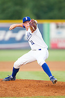 Burlington Royals relief pitcher Todd Eaton (11) in action against the Greeneville Astros at Burlington Athletic Park on June 30, 2014 in Burlington, North Carolina.  The Royals defeated the Astros 9-8. (Brian Westerholt/Four Seam Images)