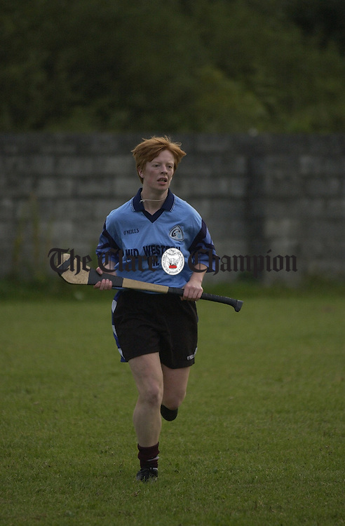 Deirdre Murphy pictured at a training session in preparation for the  All-Ireland junior camogie final. Photograph by John Kelly.