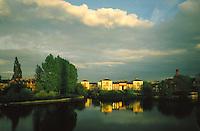 .The River Severn at Shrewsbury, Shropshire...