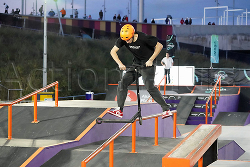 8th November 2020; Parc del Forum, Barcelona, Catalonia, Spain; Imagin Extreme Barcelona;  David Senkyr (CZE) during Scooter mens street semifinal