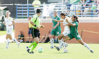 Shannon Boxx holding off challenge from Daniela Alves...Saint Louis Athletica and LA Sol, played to a 0-0 tie at Robert Hermann Stadium in St Louis, MO. April 25 2009.
