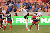 Houston, TX - Sunday Oct. 09, 2016: Samantha Mewis during the National Women's Soccer League (NWSL) Championship match between the Washington Spirit and the Western New York Flash at BBVA Compass Stadium.