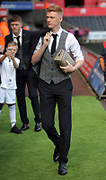 Sam Clucas of Swansea City arrives prior to the game during the Premier League match between Swansea City and Watford at The Liberty Stadium, Swansea, Wales, UK. Saturday 23 September 2017