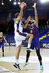 LLIGA NACIONAL CATALANA ACB 2020 AON.<br /> Barça vs Baixi Manresa: 92-82.<br /> Marc Peñarroya vs Adam Hanga.
