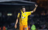 Luke O'Nien of Wycombe Wanderers applauds the fans during the Johnstone's Paint Trophy match between Bristol Rovers and Wycombe Wanderers at the Memorial Stadium, Bristol, England on 6 October 2015. Photo by Andy Rowland.