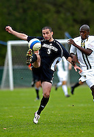 31 October 2007: The University of Binghamton Bearcats' Liam Carson, a Junior from Broxburn, Scotland, in action against the University of Vermont Catamounts at Historic Centennial Field in Burlington, Vermont. The Catamounts shut out the visiting Bearcats 2-0...Mandatory Photo Credit: Ed Wolfstein Photo