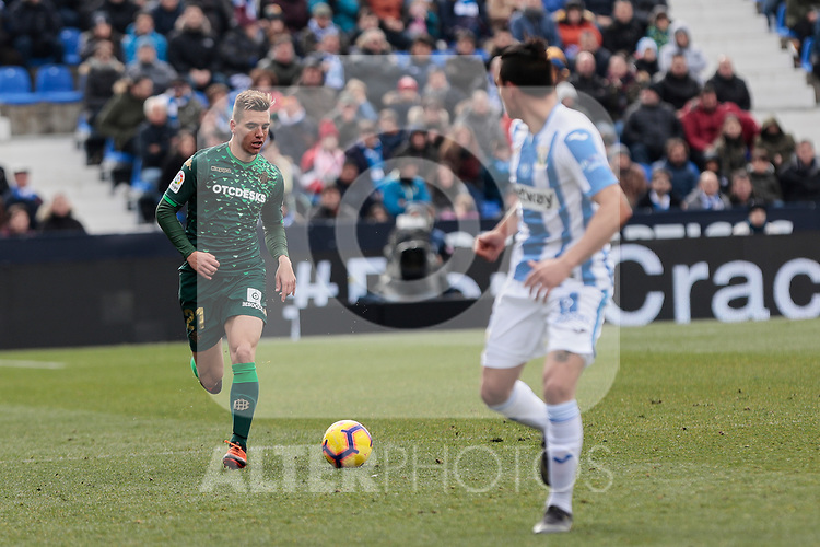 Real Betis Balompie's Giovani Lo Celso during La Liga match between CD Leganes and Real Betis Balompie at Butarque Stadium in Madrid, Spain. February 10, 2019. (ALTERPHOTOS/A. Perez Meca)