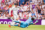 Real Madrid's player Alvaro Morata and Stade de Reims's player Carrasso during the XXXVII Santiago Bernabeu Trophy in Madrid. August 16, Spain. 2016. (ALTERPHOTOS/BorjaB.Hojas)