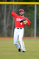 Ohio State Buckeyes outfielder Joe Ciamacco #4 throws the ball in during a game against the South Dakota State Jackrabbits at North Charlotte Regional Park on February 23, 2013 in Port Charlotte, Florida.  Ohio State defeated South Dakota State 5-2.  (Mike Janes/Four Seam Images)