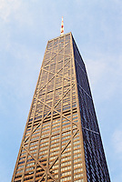 Chicago: John Hancock Center, 1969. S-O-M Architects. 1127 ft. high. Photo '88.