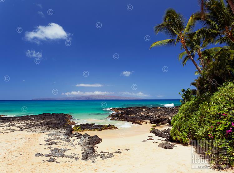 Beautiful day at Secret Beach (aka Wedding Beach), Makena, Maui.