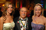 Nickie Smecca and Tony Smecca with Stephanie Rios at the San Luis Mardi Gras Ball in Galveston Friday Feb. 01,2008.(Dave Rossman/For the Chronicle)