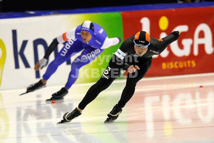 HEERENVEEN - Schaatsen,IJstadion Tialf,  NK afstanden,  500 meter heren seizoen 2011-2012 , 05-11-2011    Jan Smeekens.