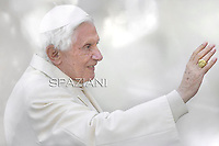 Pope Benedict XVI during his weekly general audience in St. Peter square at the Vatican, Wednesday. 7 march, 2012