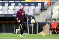 25th May 2021; Gdansk, Poland; Manchester United training at the Stadion Energa Gdańsk prior to their Europa League final versus Villarreal on May 26th;  LUKE SHAW