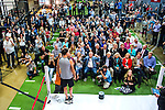 Chris Detrick  |  The Salt Lake Tribune<br /> Mitt Romney weighs in at Xcel Fitness Thursday May 14, 2015. Romney will fight former heavyweight boxing champion Evander Holyfield in the marquee event Friday night at the Rail Event Center near the Union Pacific Depot in Salt Lake City on May 15.