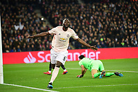 celeration de Romelu Lukaku (Man Utd)  apres son second goal <br /> Parigi 6-03-2019 <br /> Paris Saint Germain - Manchester United <br /> Champions League 2018/2019<br /> Foto JB Autissier / Panoramic / Insidefoto