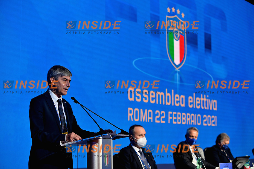 ROME, ITALY - FEBRUARY 22:  AIA President Alfredo Trentalange attends  the FIGC Elective Assembly at Cavalieri Waldorf Astoria Hotel on February 21, 2021 in Rome, Italy.  <br /> Photo Marco Rosi / FIGC / Insidefoto