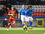 Partick Thistle v St Johnstone…23.02.16   SPFL   Firhill, Glasgow<br />Plamen Krachunov on his debut<br />Picture by Graeme Hart.<br />Copyright Perthshire Picture Agency<br />Tel: 01738 623350  Mobile: 07990 594431