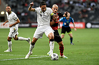 30th December 2020; Bankwest Stadium, Parramatta, New South Wales, Australia; A League Football, Western Sydney Wanderers versus Macarthur FC; Mark Milligan of Macarthur FC holds off the challenge from James Troisi of Western Sydney Wanderers