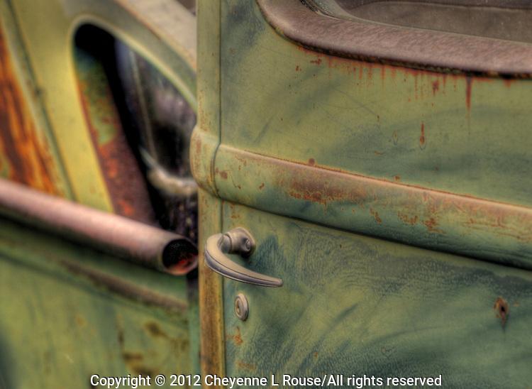 Green International Truck - door - New Mexico - Route 66