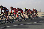 BMC Racing Team in action during the 2nd Stage of the 2012 Tour of Qatar an 11.3km team time trial at Lusail Circuit, Doha, Qatar. 6th February 2012.<br /> (Photo Eoin Clarke/Newsfile)
