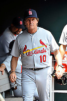 St. Louis Cardinals manager Tony LaRussa #10 during a game against the New York Mets at Citi Field on July 21, 2011 in Queens, NY.  Cardinals defeated Mets 6-2.  Tomasso DeRosa/Four Seam Images