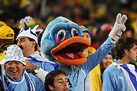 Fans of Uruguay showed support for their side in a number of creative ways. Uruguay defeated South Africa, 2-0, in both teams' second match of play in Group A of the 2010 FIFA World Cup. The match was played at Loftus Versfeld in Pretoria, South Africa June 16th.