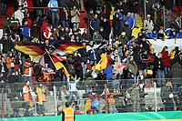 Deutsche Fans jubeln<br /> Deutschland vs. Finnland, U19-Junioren<br /> *** Local Caption *** Foto ist honorarpflichtig! zzgl. gesetzl. MwSt. Auf Anfrage in hoeherer Qualitaet/Aufloesung. Belegexemplar an: Marc Schueler, Am Ziegelfalltor 4, 64625 Bensheim, Tel. +49 (0) 151 11 65 49 88, www.gameday-mediaservices.de. Email: marc.schueler@gameday-mediaservices.de, Bankverbindung: Volksbank Bergstrasse, Kto.: 151297, BLZ: 50960101
