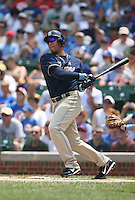 Jose Cruz Jr. of the San Diego Padres vs. the Chicago Cubs: June 18th, 2007 at Wrigley Field in Chicago, IL.  Photo By Mike Janes/Four Seam Images