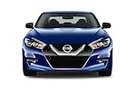 Car photography straight front view of a 2017 Nissan Maxima S 4 Door Sedan Front View