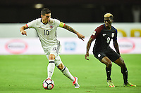 Glendale, AZ - Saturday June 25, 2016: James Rodriguez, Gyasi Zardes during a Copa America Centenario third place match match between United States (USA) and Colombia (COL) at University of Phoenix Stadium.