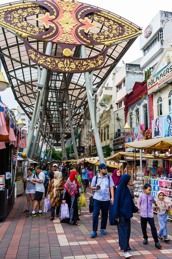Jalan Hang Kasturi Street Scene, near Central Market, Kuala Lumpur, Malaysia.