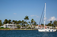 Ft. Lauderdale, Florida.  Sunday Afternoon Pleasure Boat on the Intracoastal Waterway.