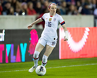 HOUSTON, TX - JANUARY 31: Rose Lavelle #16 of the USA attacks with the ball during a game between Panama and USWNT at BBVA Stadium on January 31, 2020 in Houston, Texas.