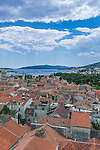 Croatia, Trogir, Looking Down from the Cathedral Tower