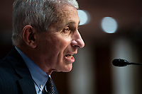 Anthony Fauci, director of the National Institute of Allergy and Infectious Diseases, speaks during a Senate Health, Education, Labor and Pensions Committee hearing in Washington, D.C., U.S., on Tuesday, June 30, 2020. Top federal health officials are expected to discuss efforts to get back to work and school during the coronavirus pandemic. <br /> Credit: Al Drago/CNP/AdMedia