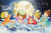 Interlitho, Soledad, CHRISTMAS CHILDREN, naive, paintings, 4 angels, music(KL2325,#XK#) Weihnachten, Navidad, illustrations, pinturas