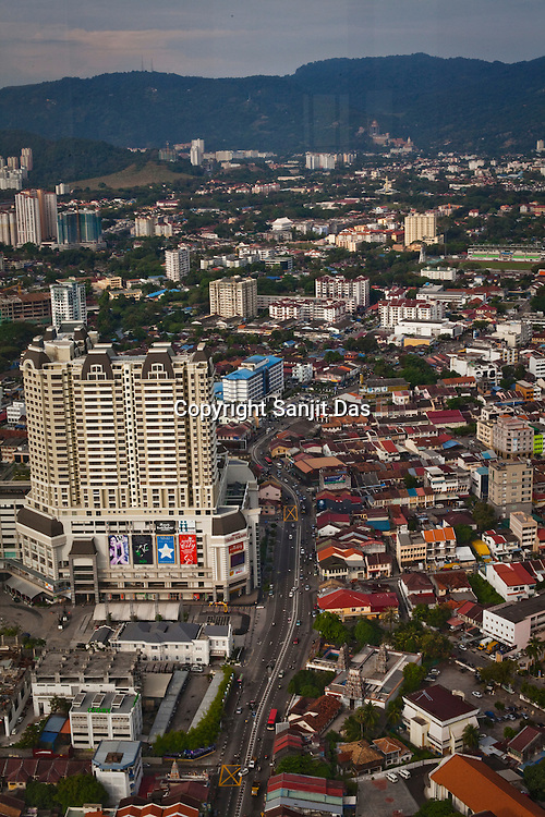 Overview of new part of Georgetown in Penang, Malaysia. Photo: Sanjit Das/Panos