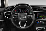 Car pictures of steering wheel view of a 2019 Audi Q3 Premium-Plus 5 Door SUV Steering Wheel