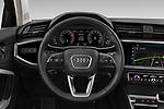 Steering wheel view of a 2019 Audi Q3  Advanced 5 Door SUV