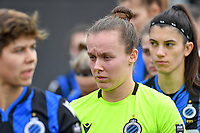 goalkeeper Elke Geeraert (25 Brugge) pictured during a female soccer game between Club Brugge Dames YLA and Eendracht Aalst Ladies on the 9 th matchday of the 2020 - 2021 season of Belgian Scooore Womens Super League , saturday 12 December 2020  in Brugge , Belgium . PHOTO SPORTPIX.BE | SPP | DAVID CATRY