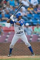Wilmington center fielder Jose Duarte (25) at bat versus Winston-Salem at Ernie Shore Field in Winston-Salem, NC, Saturday, June 9, 2007.