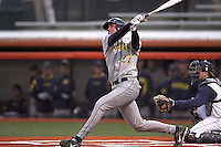 April 11, 2008:  University of Michigan Wolverines starting infielder Leif Mahler (17) against the University of Illinois Fighting Illini at Illinois Field in Champaign, IL.  Photo by:  Chris Proctor/Four Seam Images